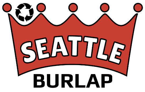 Seattle burlap bags logo